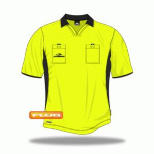 Rozhodcovský dres Jadberg Arbiter L neonově žlutá Krátký rukáv