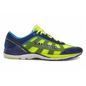 Salming Distance 3 Shoe Men Navy/Safety Yellow Laufenschuhe