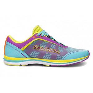Salming Speed 3 Shoe Women Turquoise/Purple Běžecká obuv