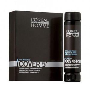 L'Oréal Professionnel Homme Cover 5 3x50ml 4 - střední hnědá