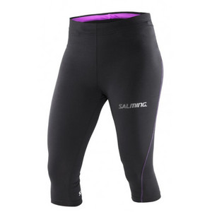 Salming Run 3/4 Tights Women Black 3/4 running elastic pants
