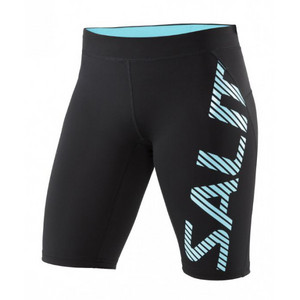 Salming Run Power Tights Women Black Lauf elastische shorts
