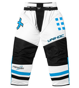 Unihoc Feather white/blue Brankárske nohavice