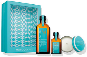 MoroccanOil Oil Home & Away Set with Candle