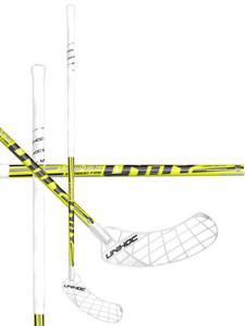 Florbalová hůl Unihoc UNITY Bamboo 26 neon yellow `15 neonově žlutá, Pravá ruka níže, 96cm (