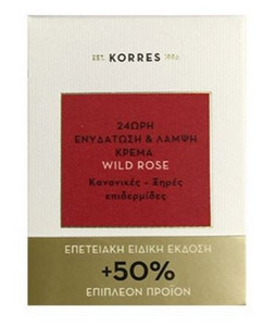 Korres Wild Rose 24-hour Moisturizing & Brightening Cream 60ml