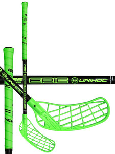 Unihoc EPIC Youngster 36 neon green/black Florbalová hokejka