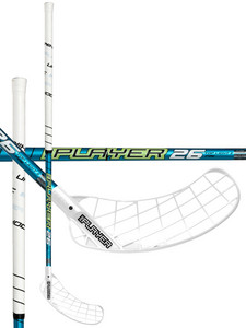Unihoc REPLAYER Top Light II 26 white/turquoise Florbalová hokejka