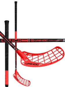 Unihoc EPIC Bamboo Curve 2.0º 26 black/neon red černá / červená Levá ruka níže 96cm (=106cm)
