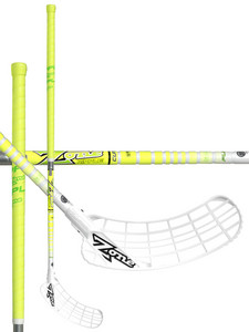 Zone floorball ZUPER RIPPLE Curve 1.0° 27 white/yellow Florbalová hokejka