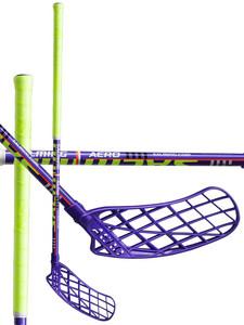 Salming Aero Kid fialová / zelená Levá (levá ruka níže) 77cm (=87cm)