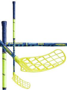 Salming Aero KickZone TipCurve 5° YT modrá / žlutá Pravá (pravá ruka níže) 82cm (=92cm)