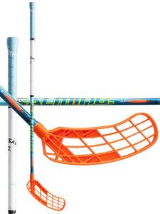 Salming Quest1 TourLite TipCurve 2° modrá / bílá / oranžová Levá (levá ruka níže) 100cm (=110cm)
