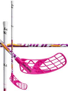 Salming Quest5 X-shaft KickZone TipCurve 3° JR bílá / fialová / růžová Levá (levá ruka níže) 92cm (=102cm)