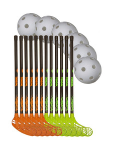 Necy Tribal 70/81cm team set Floorball set