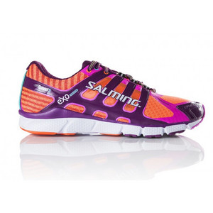 Salming Speed 5 Shoe Women Shocking Orange/Dark Orchid Laufschuhe