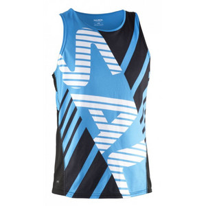 Salming Run Team Race Singlet Black/Cyan Tielko