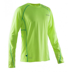 Salming Run LS Tee Men Safety Yellow/Ceramic Green Shirt