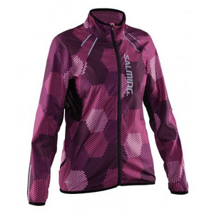 Salming Run Ultralite Jkt Wmn 2.0 Azalea Pink/Black bunda