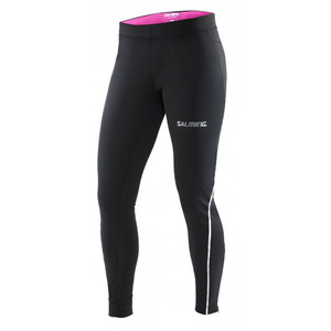 Salming Run Wind Tights Women Black stretch pants