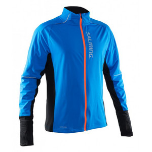 Salming Run Thermal Wind Jkt Men Electric Blue/Black bunda