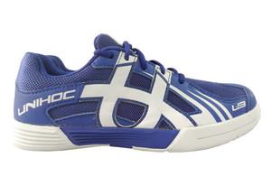 Unihoc U3 Junior Unisex blue/white modrá / bílá US 1 / UK 13 JR / EU 32 / 21,2 cm