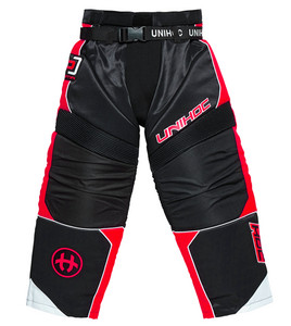 Unihoc OPTIMA black/neon red Goalie pants