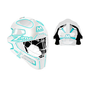 Zone floorball MONSTER CAT EYE CAGE white/light turquoise Senior bílá / tyrkysová