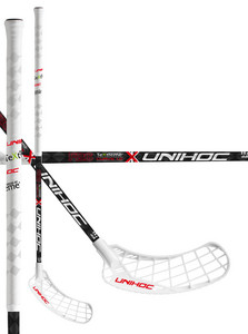 Unihoc EPIC TeXtreme Curve 1.0º 26 white/red Floorbal stick