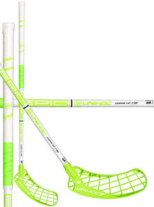 Unihoc EPIC Curve 1.0º 32 white/neon green Floorbal stick