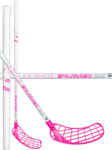 Unihoc REPLAYER Curve 1.0º STL 29 white/cerise bílá / růžová Levá ruka níže 96cm (=106cm)