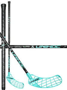 Unihoc UNITY TeXtreme Feather Light 29 black/turquoise Florbalová hokejka
