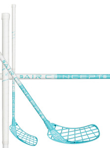 Zone floorball HYPER AIR Superlight Curve 2.0° 29 white/light turquoise Florbalová hokejka