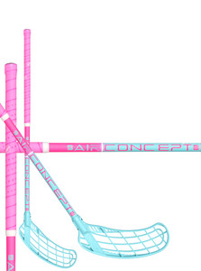 Zone floorball FORCE AIR JR 35 pink/light turquoise Florbalová hokejka