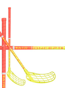 Zone floorball FORCE AIR JR 35 light coral/neon yellow Floorbal stick