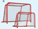 Unihoc MATCH net + drop net Floorball net