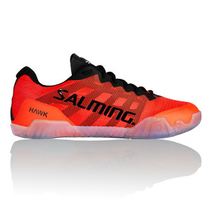 Salming Hawk Men Shoe Black/Lava red Indoor shoes