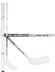 Unihoc Player 26 X-LONG white/black Florbalová palica