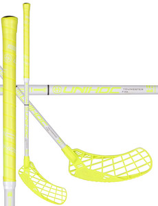 Unihoc EPIC YOUNGSTER 36 neon yellow/white Floorball stick