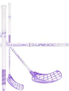Unihoc Epic Composite 29 white/purple bílá / fialová, Pravá (pravá ruka dole), 100cm (=110cm)