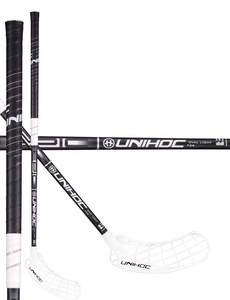 Unihoc EPIC Oval Light 26 black/white Florbalová hokejka