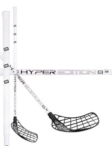 Zone floorball HYPER Composite 27 white/black Florbalová hokejka