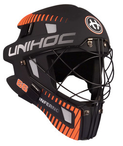 Unihoc INFERNO 66 black/neon orange Brankárska maska