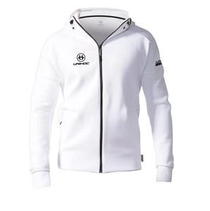 Unihoc TECHNIC Hood zip white XXXL, bílá