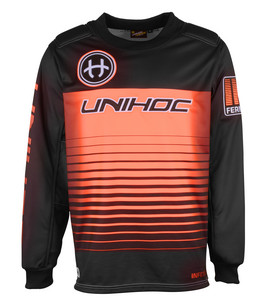 Unihoc INFERNO black/neon orange Brankársky dres