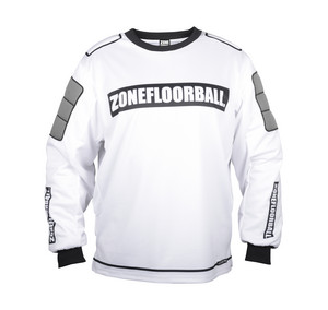 Zone floorball MONSTER white/black Brankárský dres
