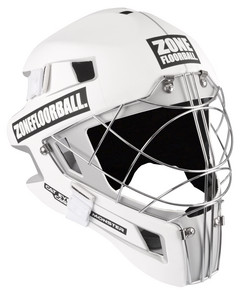Zone floorball MONSTER CAT EYE CAGE white/light turquoise Brankárska helma