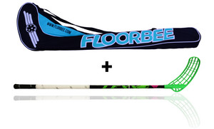 LEXX Lupa 2,9 oval Black + Stickbag Floorball stick and stickbag - set