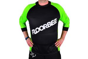 FLOORBEE Padded Landing jersey 2.0 S, černá / zelená