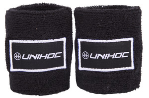Unihoc Wristband TERRY 2-pack black